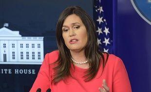 Sarah Sanders à la Maison-Blanche, le 28 janvier 2019.