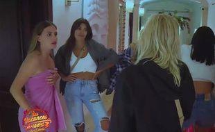 Capture d'écran de la séquence de harcèlement diffusée dans «Les vacances des Anges 3» sur NRJ12.