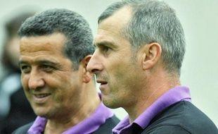 A droite, Alain Casanova, l'entraineur du TFC, avec Ali Rachedi, le directeur sportif.