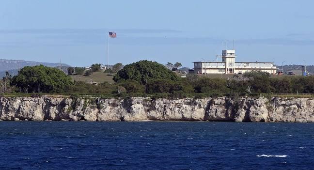 Vue de la base militaire américaine de Guantanamo.