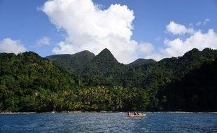 Un paysage de Martinique. (Illustration)