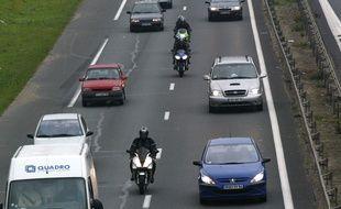 Circulation sur l'autoroute A15. (Illustration)
