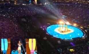 Capture d'écran: Katy Perry au Super Bowl 2015 en timelapse.