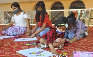 Dans une école indienne, le 14 mars 2021. (illustration)