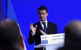 Le Premier ministre français Manuel Valls lors de la deuxième réunion de l'
