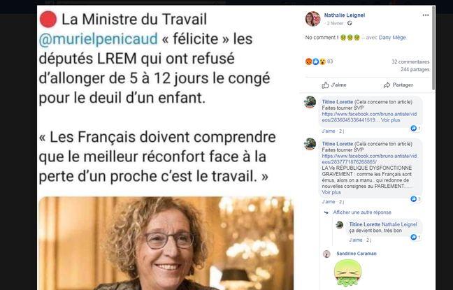 Une fausse déclaration de Muriel Penicaud tourne sur les réseaux
