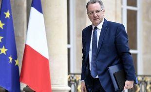 Richard Ferrand, le ministre de la Cohésion territoriale lors de son arrivée au Conseil des ministres à l'Elysée à Paris, le 24 mai 2017.
