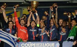 Le Paris Saint-Germain, vainqueur de la Coupe de la Ligue 2016.