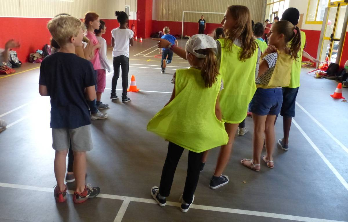 Lyon, le 5 septembre 2014 Reportage à l'ecole Paul Painleve a l'occasion de la mise en place des activites periscolaires. A Lyon, elles sont regroupees le vendredi apres-midi –