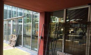 Le bâtiment H de la faculté Paul-Valéry bloqué ce 2 mai 2018.