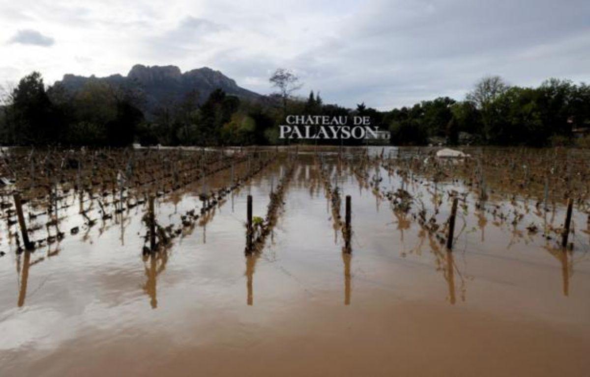 La ville de Roquebrune-sur-Argens sous les eaux, le 7 novembre 2011. – AFP/ B. Horvat