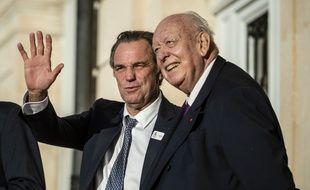 Renaud Muselier et Jean-Claude Gaudin, début 2018, à Marseille.
