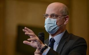 Le ministre de l'Education nationale, Jean-Michel Blanquer, à Paris le 22 octobre 2020.