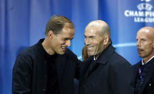 Thomas Tuchel et Zinédine Zidane, retrouvailles programmées ce mardi à Madrid.
