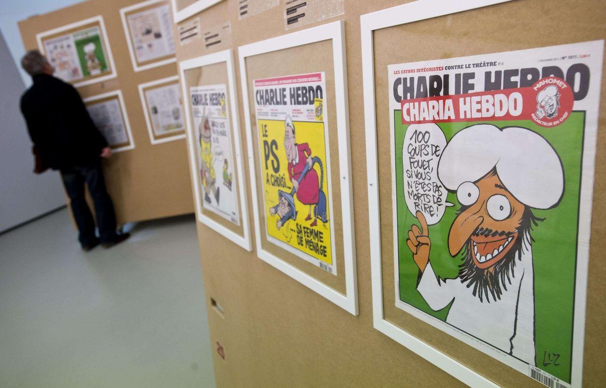 L'exposition dédiée à Charlie Hebdo lors du Festival de BD  d'Angoulême 2015 –  Vit Simanek/AP/SIPA