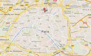 Localisation du boulevard Barbès, dans le 18e arrondissement de Paris.