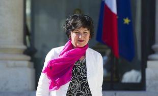 Le 29 aout 2012. Sortie du conseil des ministres au palais de l'Elysee. Ici,Dominique Bertinotti.  // PHOTOS : V. WARTNER/20 MINUTES