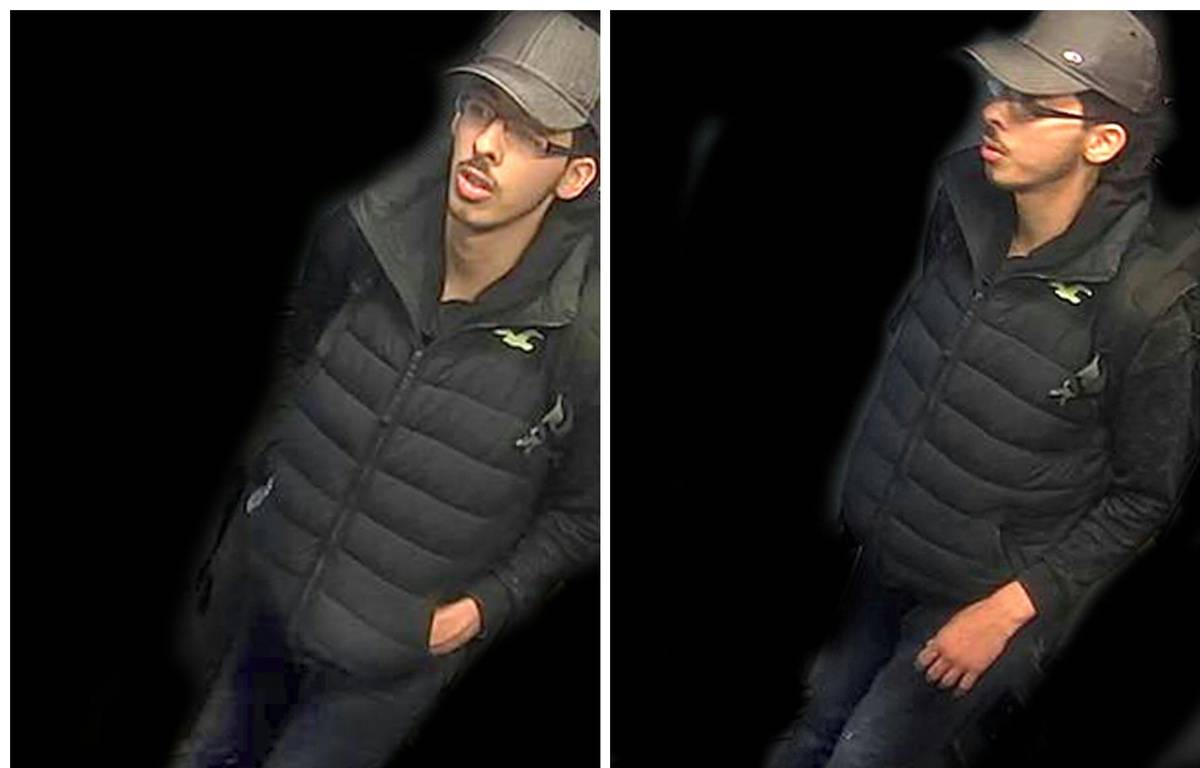 La police a publié des photos du kamikaze Salman Abedi prises par une caméra de surveillance la nuit de l'attentat de Manchester.  – GREATER MANCHESTER POLICE / AFP