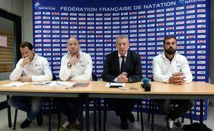 L'état-major de la Fédération Française de natation, en 2016