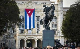 Cérémonie d'inauguration de la statue de José Martí à La Havane, le 28 janvier 2018.