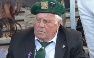 René Rossey, vétéran français de 88 ans, présent pendant la cérémonie de commémoration du Débarquement le 6 juin 2014.