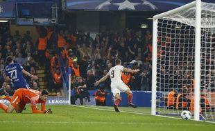 Edin Dzeko a inscrit un doublé lors du match nul entre Chelsea et la Roma (3-3), le 18 octobre 2017.