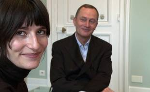 Marion Larat et son avocat Jean-Christophe Coubris.