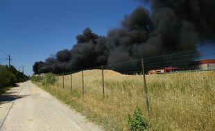 L'incendie a éclaté dans une entreprise de produits chlorés, dans le Gard