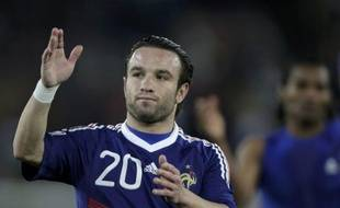 L'attaquant de l'équipe de France Mathieu Valbuena, lors de la défaite de la France face au Mexique, le 17 juin 2010 à Polokwane (Afrique du sud).