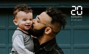 Illustration d'un homme avec un bambin