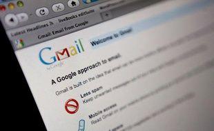 La page d'accueil de Gmail.