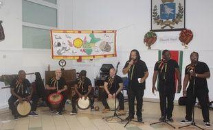 L'association antillaise Otantika, lors de son «Chanté Nwèl» annuel à Rosny-sous-bois, le 21 décembre 2019.