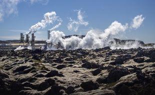 Une centrale géothermique en Islande.