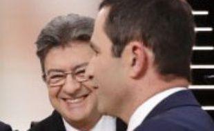 Jean-Luc Mélenchon et Benoît Hamon le 20 mars 2017.