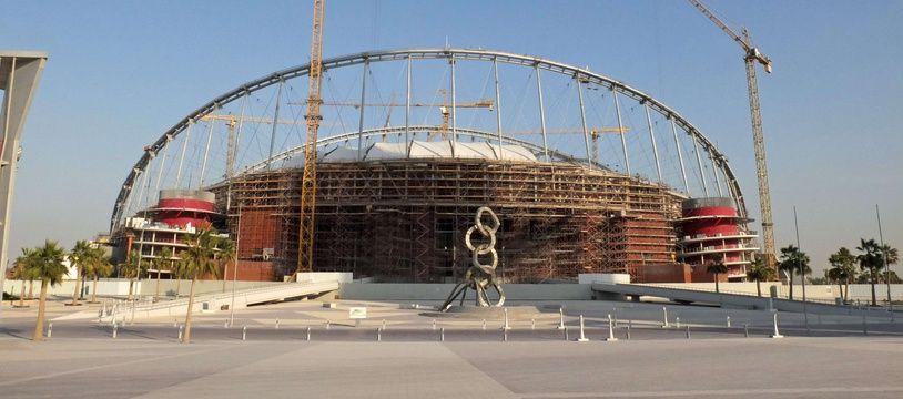 Un stade en construction au Qatar