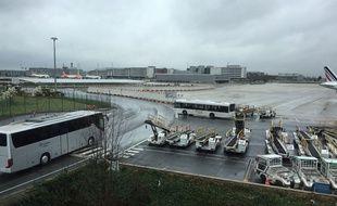 L'aéroport de Roissy.