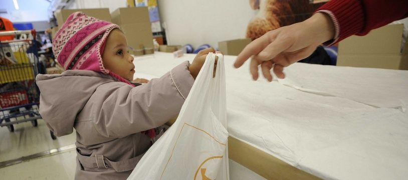Illustration de la collecte nationale des Banques alimentaires.