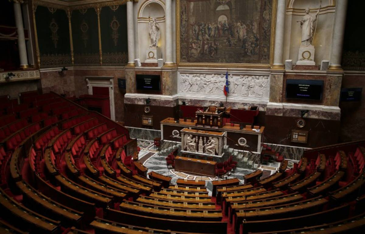 Assemblée nationale vide.  – Thomas SAMSON / AFP