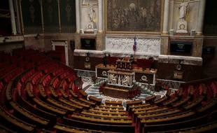 Assemblée nationale vide.