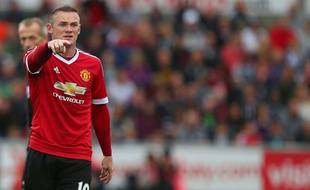 Wayne Rooney lors de Swansea-Manchester United le 30 août 2015.