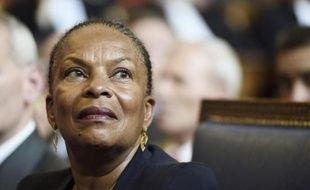 Christiane Taubira attends the installation of La ministre de la Justice Christiane Taubira à la Cour d'appel de Paris, le 3 septembre 2014