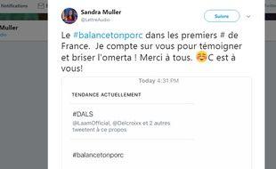 #BalanceTonPorc en tendance sur Twitter le 15 octobre 2017.