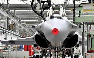 Un rafale à l'usine Dassault de Mérignac, près de Bordeaux.