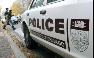 Une voiture de police à Chicago.
