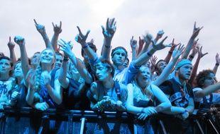 Le public du festival Les Vieilles Charrues en 2014.