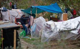Un camp de Roms, évacué le 22 novembre 2012 sur les berges de la Garonne, à Toulouse.
