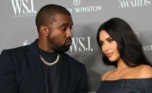 Le rappeur Kanye West et sa femme, la star de la télé-réalité Kim Kardashian