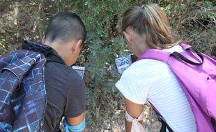 Les sixièmes du collège Camille à la découverte de la faune et la flore... grâce au portable