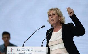 L'eurodéputée française Nadine Morano (Les Républicains) à Paris le 30 mai 2015
