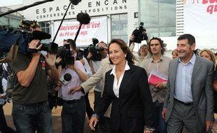 Arrivée de Ségolène Royal à l'université d'été du PS, à La Rochelle le 27 août 2010.